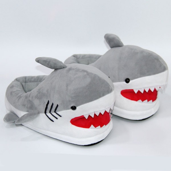 Animal Shark Slippers for Adults Warm House Shoes