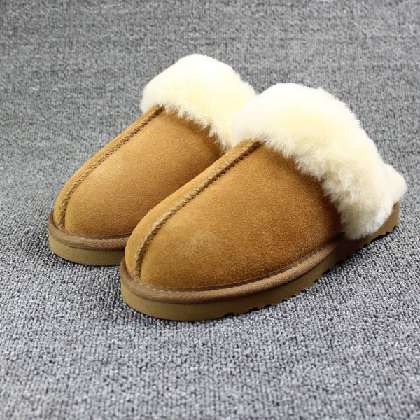 Shearling Scuff Slippers for Adults House Slippers