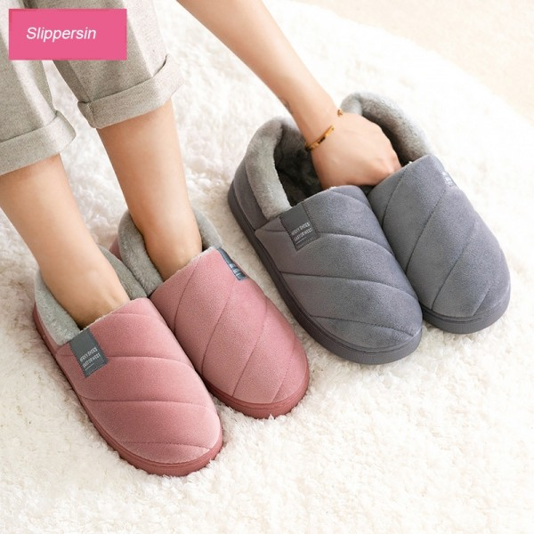 Warm House Shoes for Adults Memory Foam Slippers