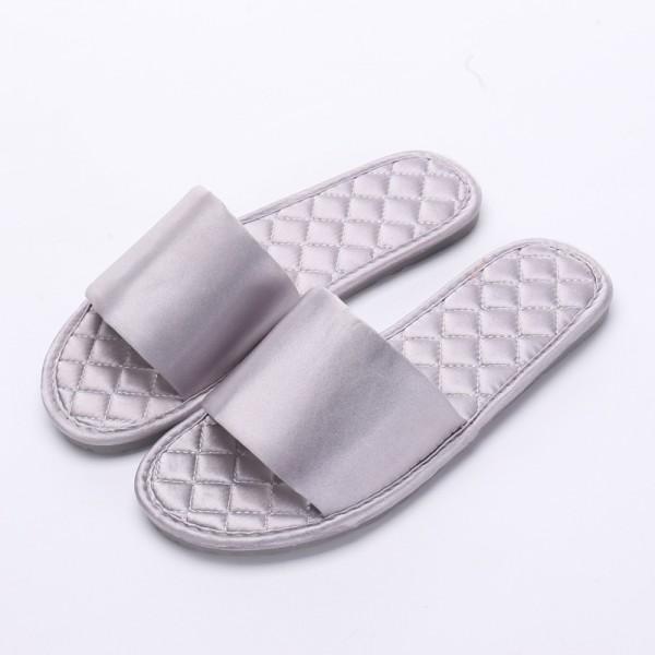 Womens Silk House Slippers Ladies Memory Foam Bedroom Slippers