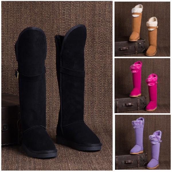 Black Knee High Boots Women's Winter Tall Boots