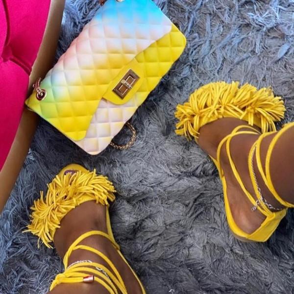 Chic Tassel Sandals Women's Flat Strappy Sandals