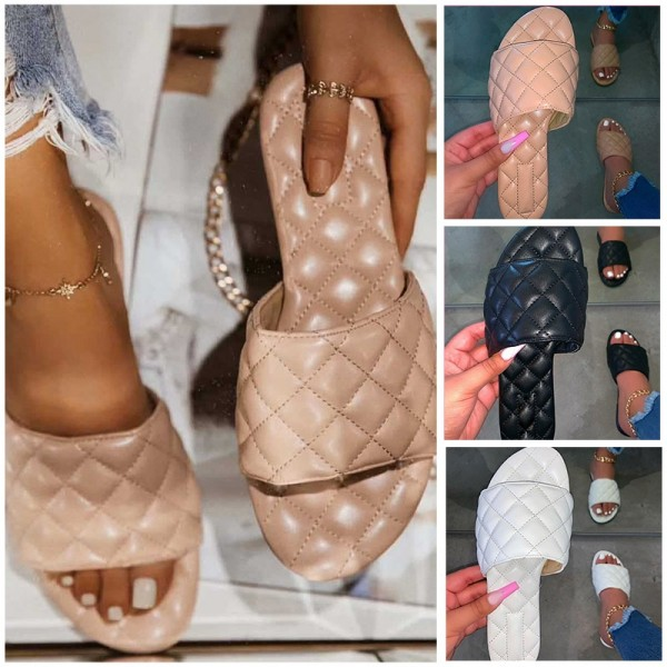 Comfortable Slide Sandals Puffy Women's Slide Shoes