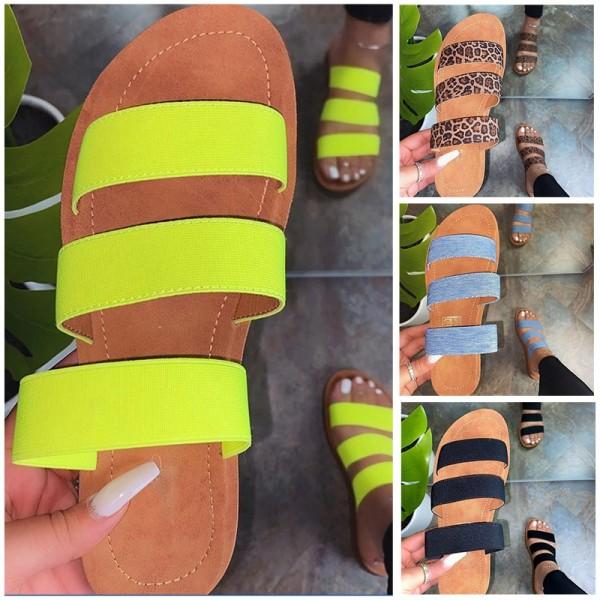Women's Leopard Slide Sandals Best Black Beach Slippers