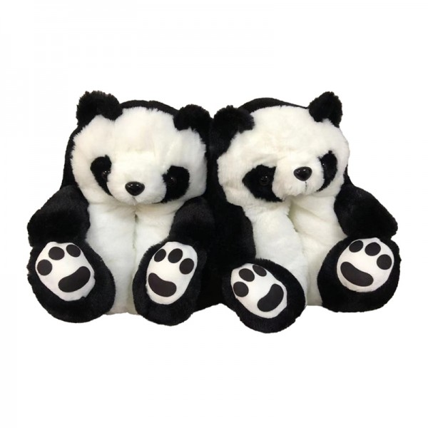 Panda Slippers for Adults Plush Cartoon House Shoes