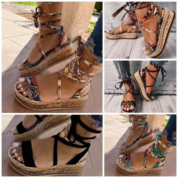 Women's Platform Slide Sandals Gladiator Strappy Sandals