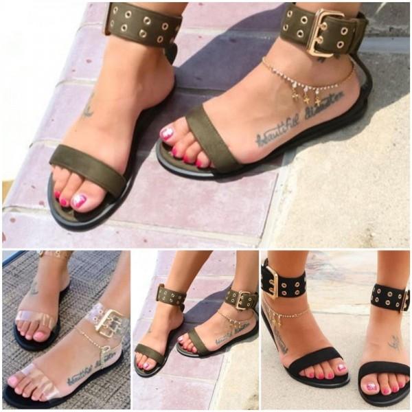 Women's Flat Sandals Buckles Adjustable Straps sandals