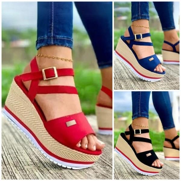Women's Platform Sandals Thick Heel Fanshion Sandals