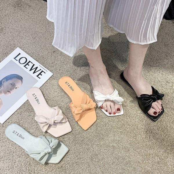 Bowtie Slide Sandals Women's Colorful Fashion Slippers