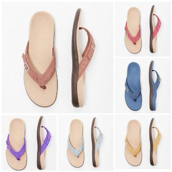 Ladies Colorful Flipflop Fashion Flat Thong Sandals