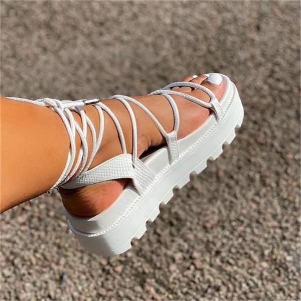 Women's Gladiator Slide Sandals Fashion Platform Strappy Sandals