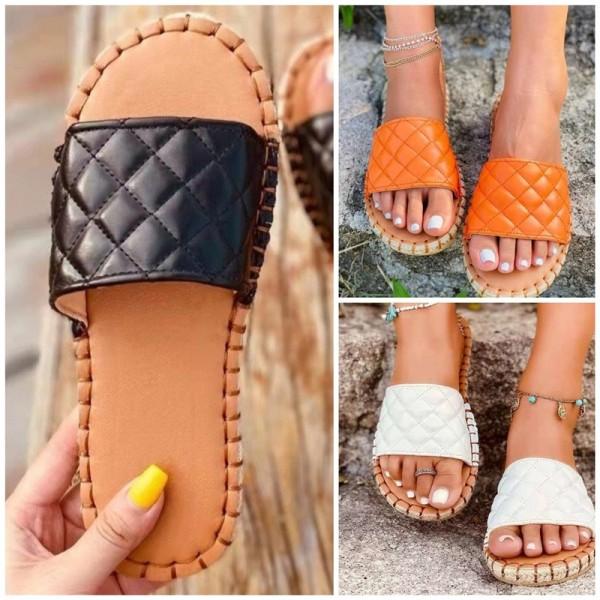 Women's Elegant Slide Sandals Thick Soled Beach Slippers