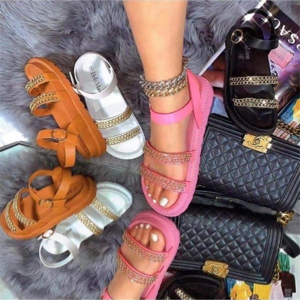 Women's Sporty Slide Sandals Thick Sole Platform Sandals