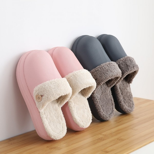 Waterproof House Slippers for Women Warm Fleece Lined Clogs