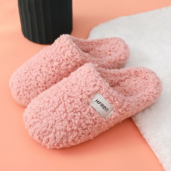 Fleece House Slippers for Women Winter Fuzzy Bedroom Shoes