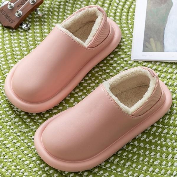 Waterproof House Shoes for Women Fleece Lined Indoor Slippers