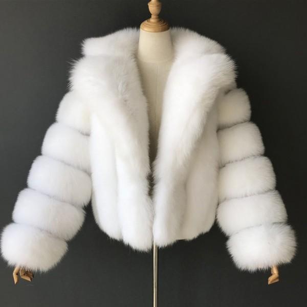 Women's Faux Fur Jacket Fluffy Bubble Short Fur Coat
