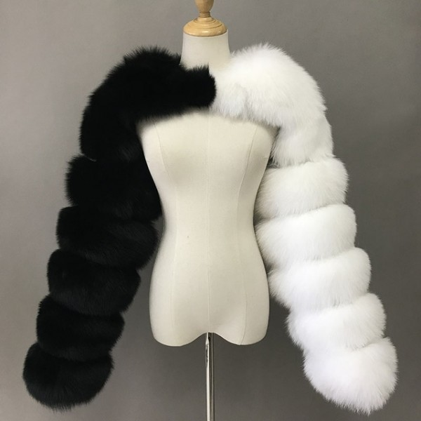 Faux Fur Long Sleeves Women's Furry Scarf