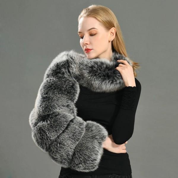 One Sided Faux Fur Sleeve Women's Long Sleeve Furry Scarf