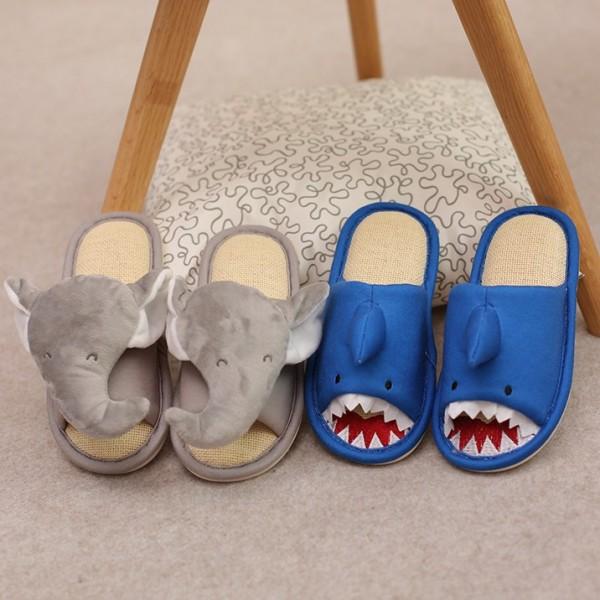 Animal Slippers for Boys and Girls Shark Elephant House Slippers