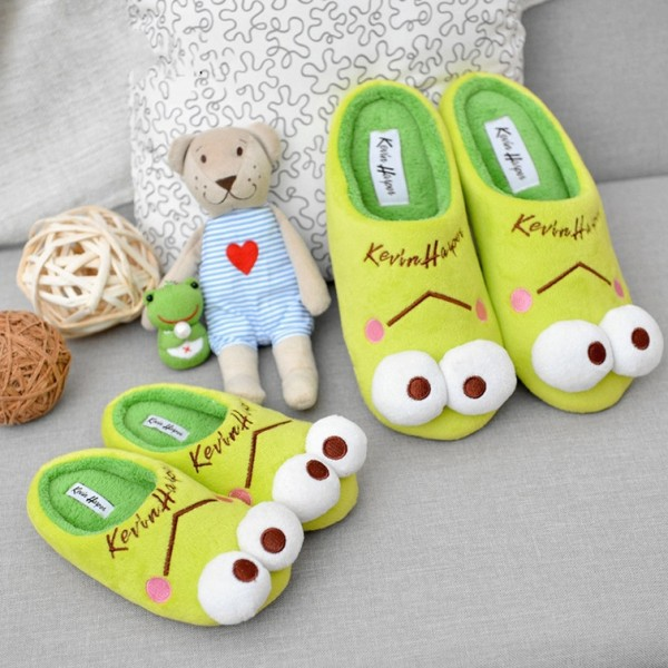 Animal Frog Slippers for Adult and Kids Family House Shoes