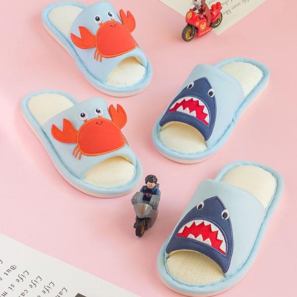 Kids Animal Slippers Open Toe Shark Breathable House Slippers