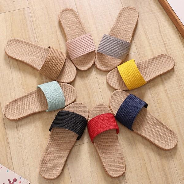 Women's Linen House Slippers Summer Flax Ladies Sandals
