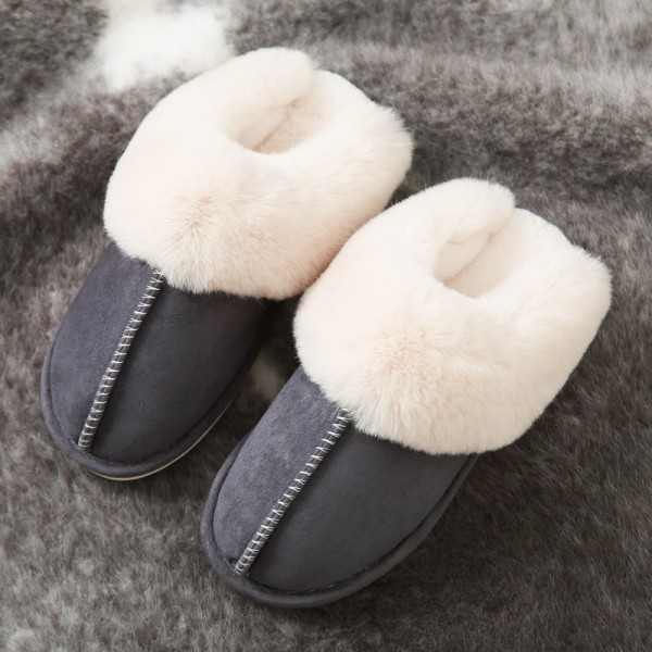 Men's Scuff Slippers Plush Best Suede House Slippers