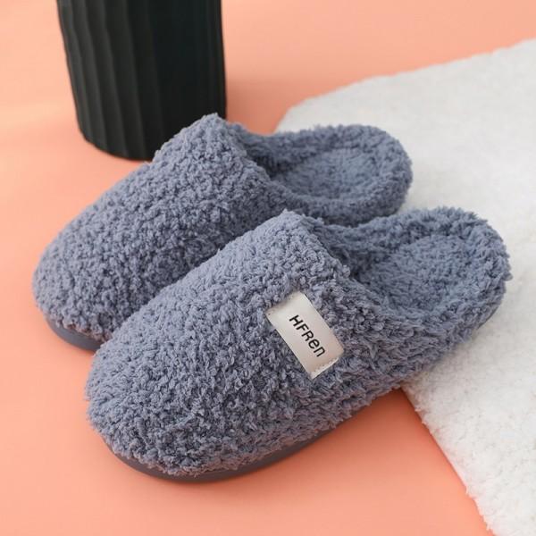 Men's House Slippers Winter Bedroom Fleece Slipper Scuffs