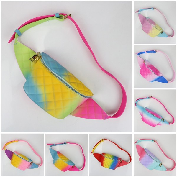 Colorful Jelly Fanny Pack Women's Ombre Waist Bag
