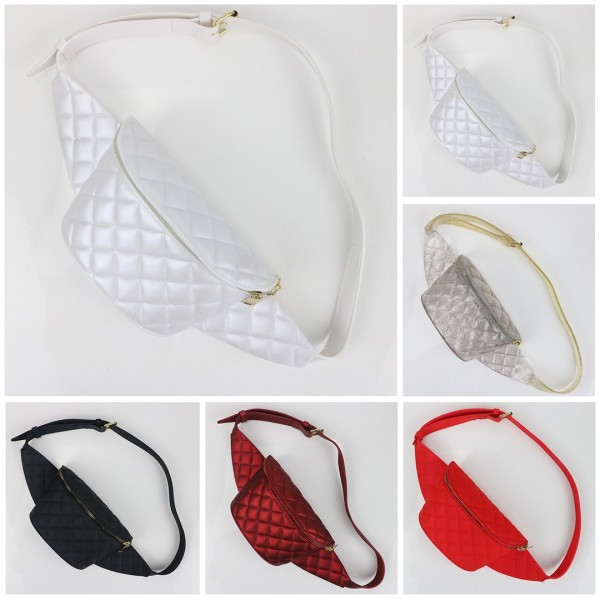Shiny Fanny Pack Casual Waist Bag