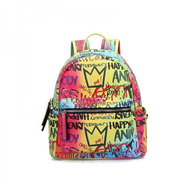 Chic Graffiti Backpack Women's Casual Backpack