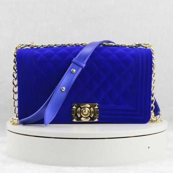 Medium Velvet Shoulder Bags Women's Chain Strap Crossbody Bags