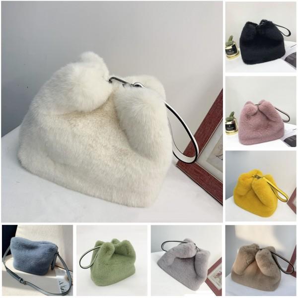 Fashion Faux Fur Handbags Women's Cross-body Bags