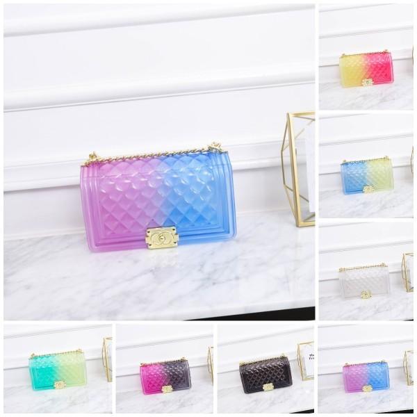 Ombre Clear Jelly Purse Medium Women's Fashion Shoulder Bag