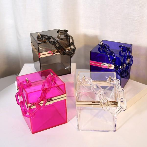 Acrylic Clear Box Clutch Bag Summer Purse