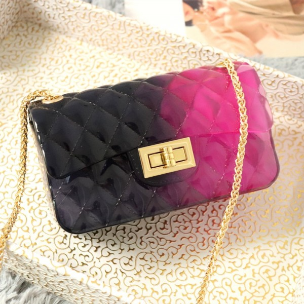 Colorful Jelly Purse Medium Quilted Crossbody Bag