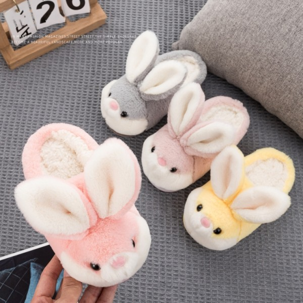 Bunny Slippers for Women and Kids Plush Bunny Ear Slippers